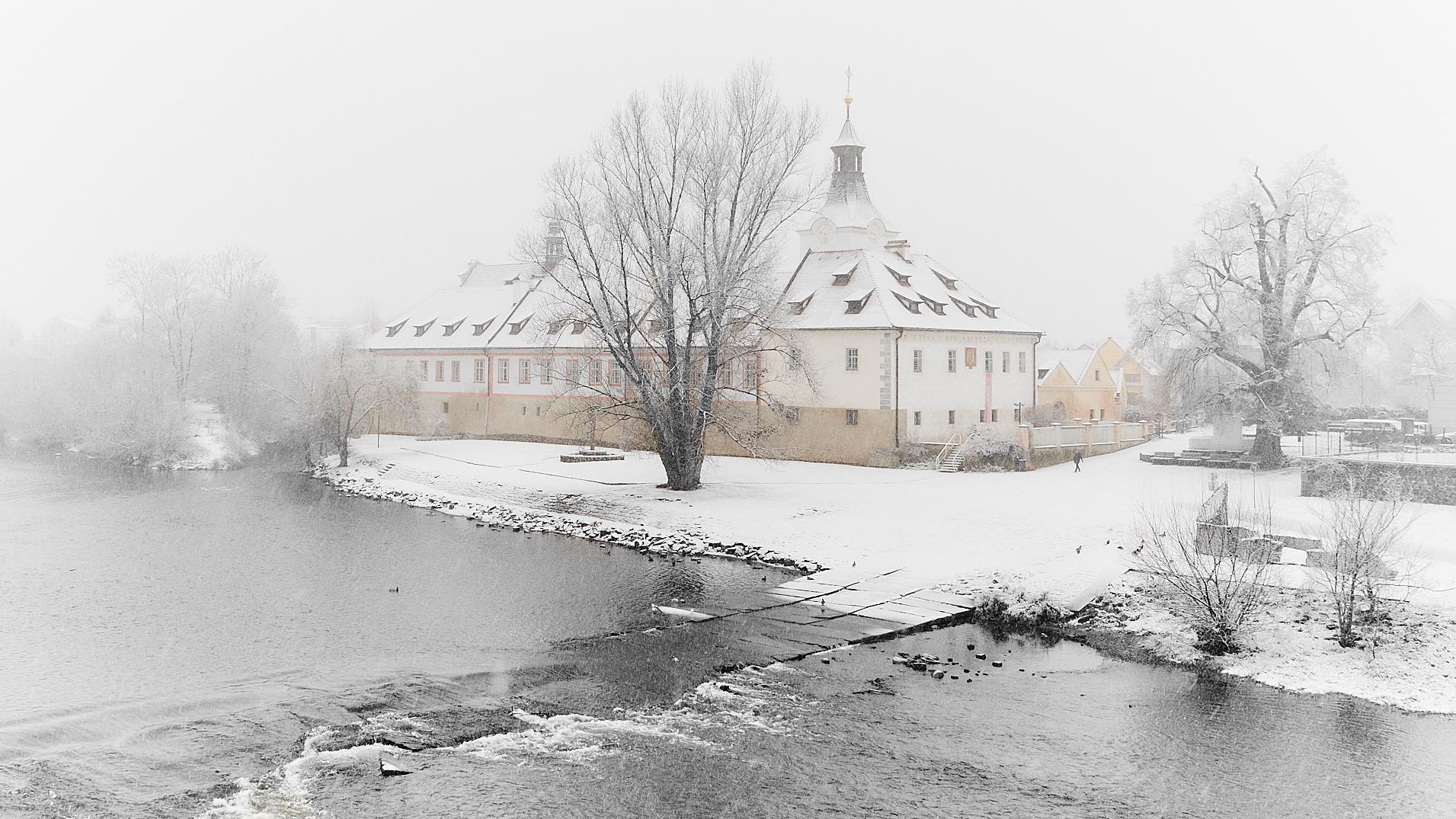 Zámek Dobřichovice - zima