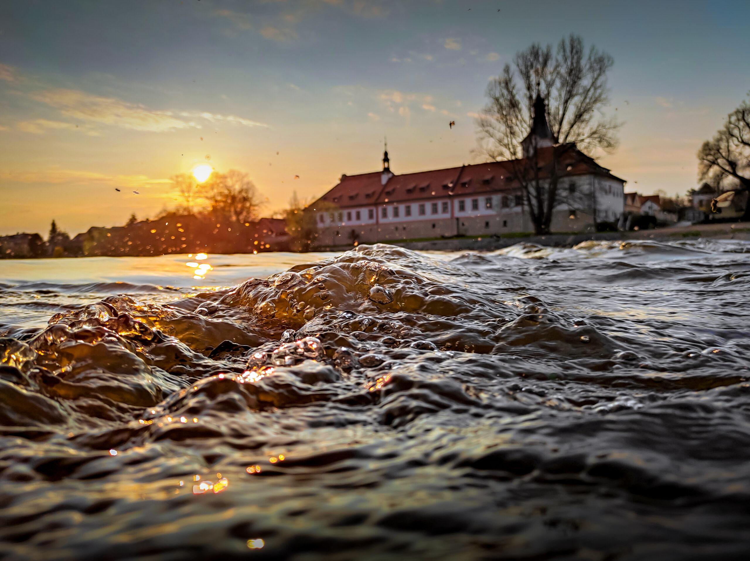 Mušky laškující nad žhavou večerní řekou   foto: Daniel David   2. místo kategorie 3 (nad 18 let)