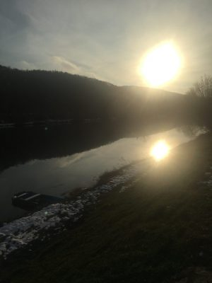 Západ slunce nad Berounkou
